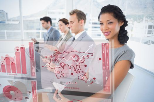 Composite image of global business interface