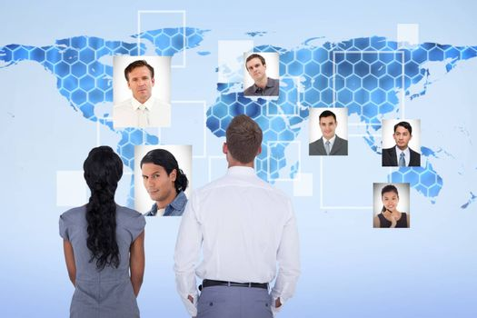Composite image of wear view of business people