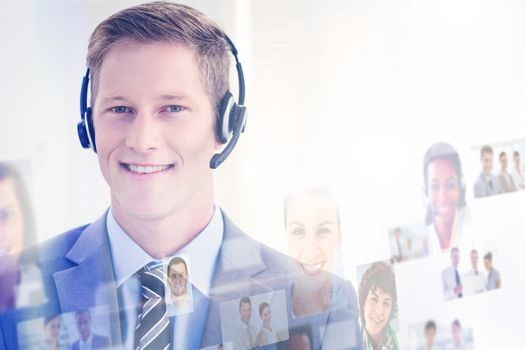 Composite image of business people