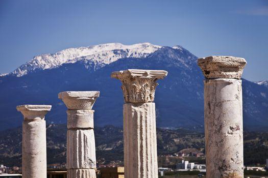 Columns at Laodicea in Turkey