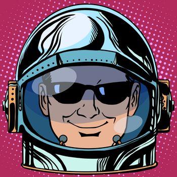 emoticon spy Emoji face man astronaut retro