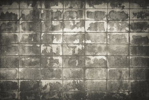 Old brick background or texture as black and white.