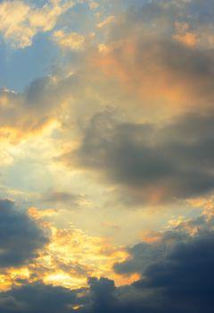 Beautiful Stormy Sky with Sunlight