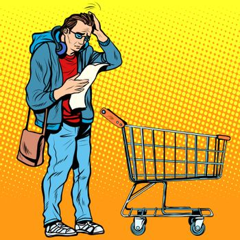 The buyer with a grocery cart
