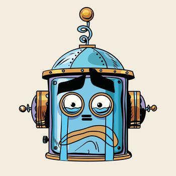 emoticon cry emoji robot head smiley emotion
