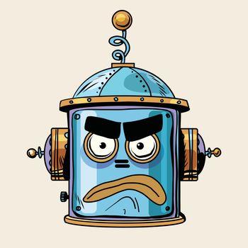 emoticon angry emoji robot head smiley emotion