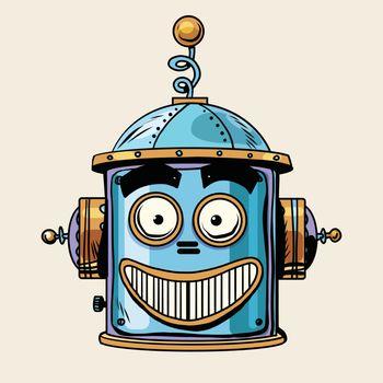 emoticon happy emoji robot head smiley emotion