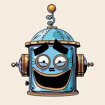 emoticon funny laughing emoji robot head smiley emotion