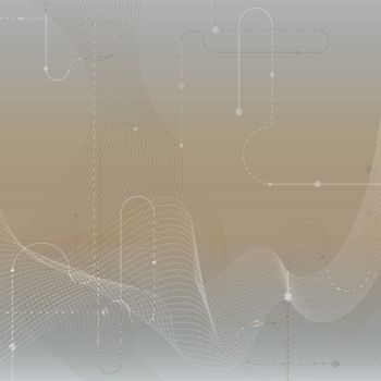 Techno vector abstract blurred background with soft lines. Cyber