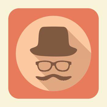 Gentleman flat icon.