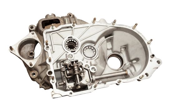 Carter CAT car disassembled. Isolated on white background