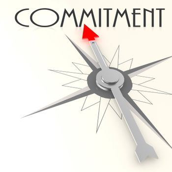 Compass with commitment word