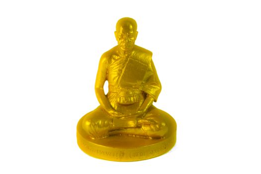 Small Golden Buddha statue sculpture  - Phra - Isolate Isolated