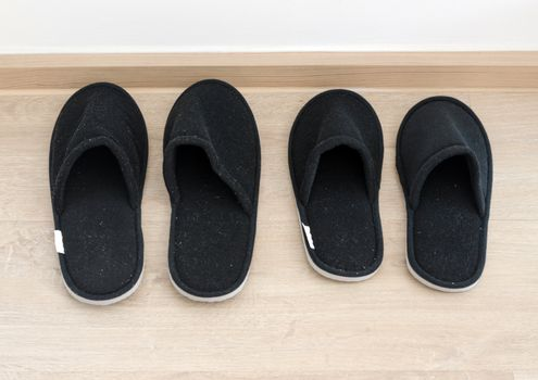Black home slippers