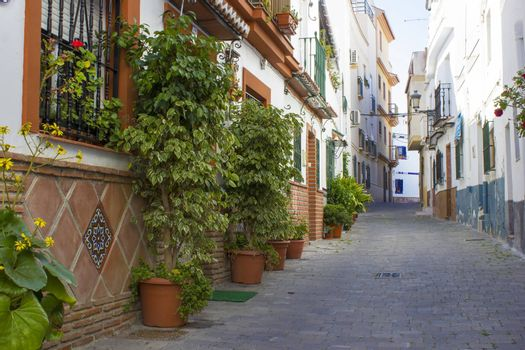 Street in Almunecar Andalusia, Spain