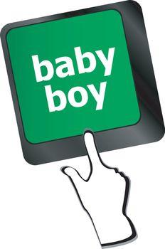 baby boy message on keyboard enter key