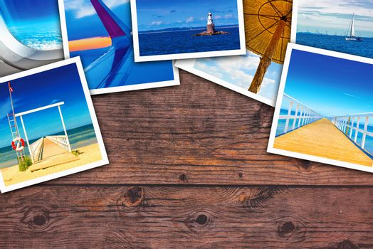 Seaside photo collage