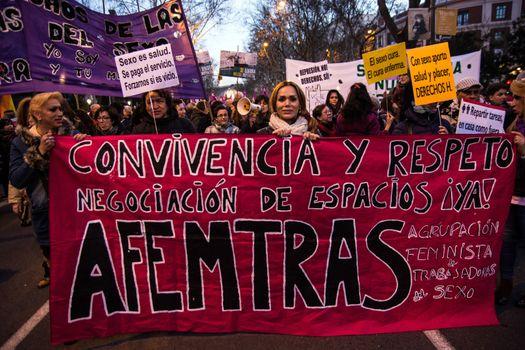 SPAIN - UNREST - INTERNATIONAL WOMEN'S DAY