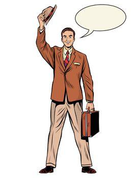 Man businessman salesman
