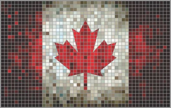 Abstract Mosaic flag of Canada,  Canadian Flags pictures and vector,  Canada grunge mosaic flag
