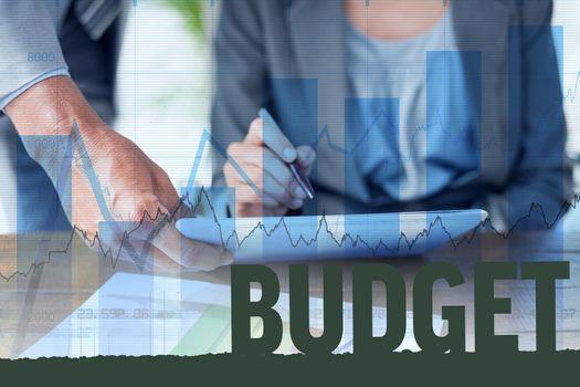 Composite image of budget