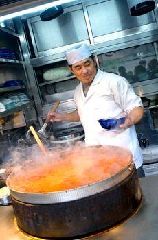 fiery steaming broth