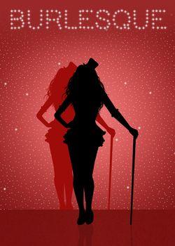 girl dancing Burlesque