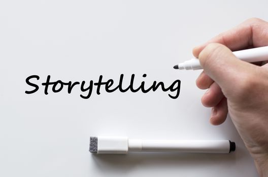 Storytelling written on whiteboard