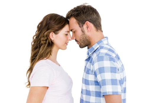 Young couple rubbing nose
