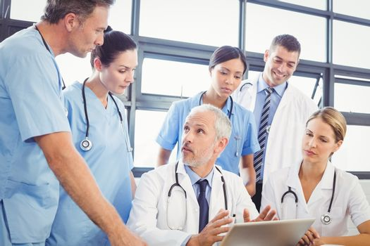 Medical team interacting at a meeting in conference room