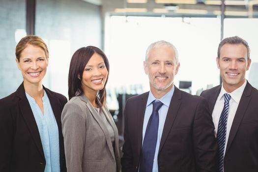 Portrait of businesspeople smiling