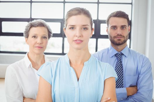 Cconfident business people standing in office
