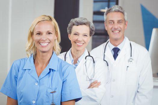 Portrait of smiling doctor team