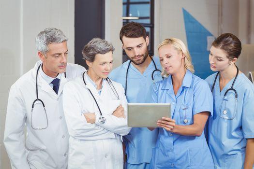 Doctor team with digital tablet