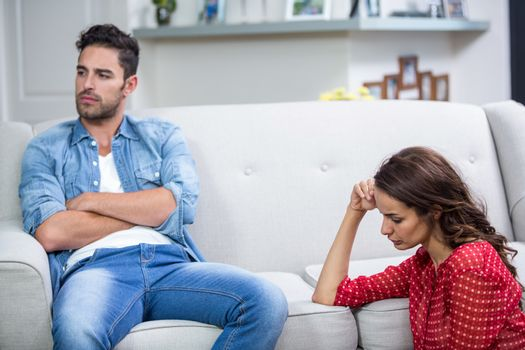 Annoyed couple after argument