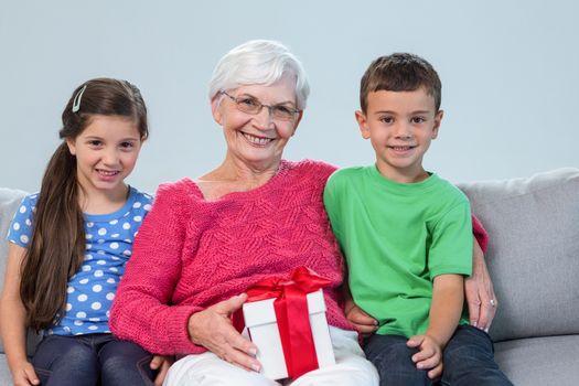 Grandmother and her grandchildren