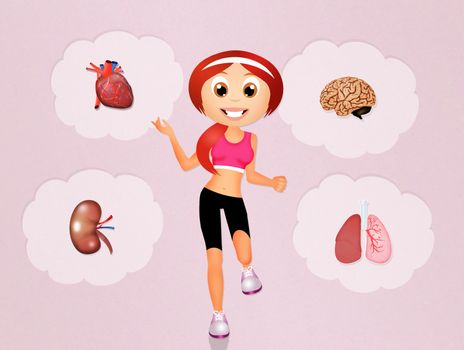 health conscious concept