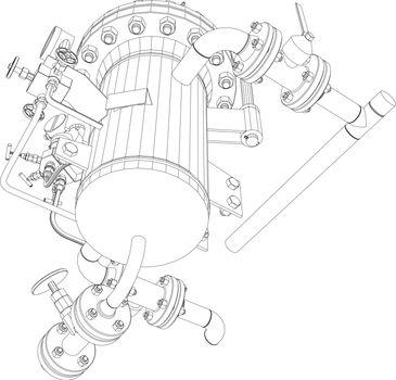 Scetch of heat exchanger
