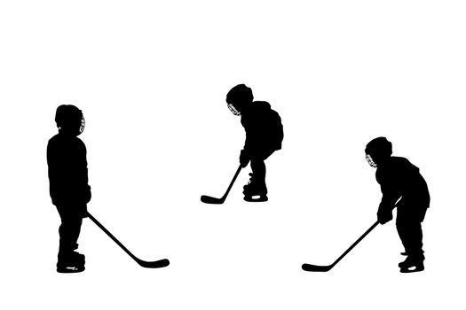 hockey players silhouettes