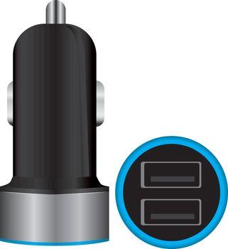 Mini Dual USB Car Charger