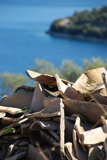 Roof tiles and sea