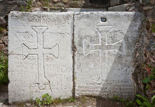 Christian Symbols at Philadelphia in Turkey