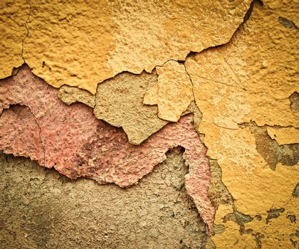 old eroded plaster layer color