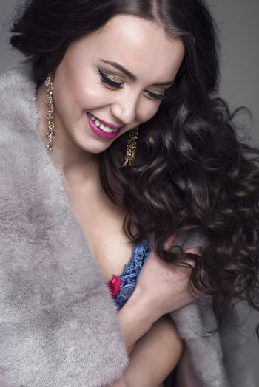 Beautiful woman with shiny wavy hair