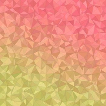 Yellow and red irregular triangle mosaic background design