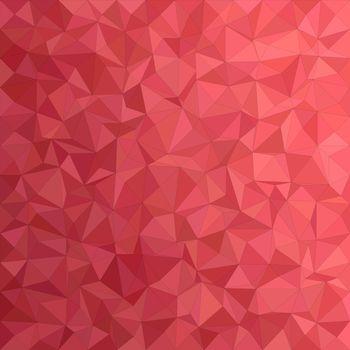 Red irregular triangle mosaic vector background design
