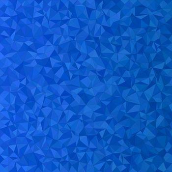 Blue irregular triangle mosaic vector background