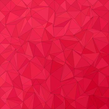 Crimson irregular triangle background design