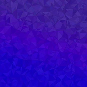 Blue irregular triangle mosaic background design