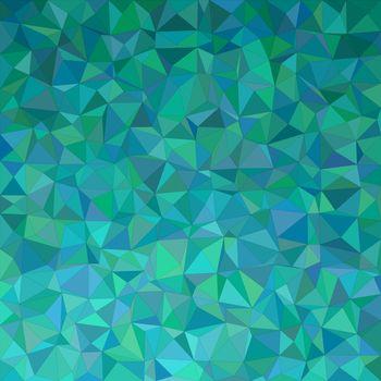 Teal irregular triangle mosaic background